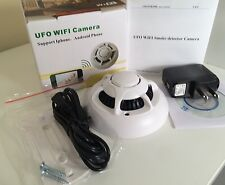 Home Security System P2P IP di Allarme Rilevatore di fumo Telecamera Wireless WiFi Spy camera