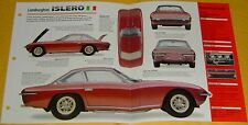 1968 Lamborghini Islero V12 3929cc 320 hp 6 Weber 40 DCOE Carbs info/specs/photo
