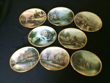 "Complete Collection Thomas Kinkade ""Lamplight Village"" Plates, Bradford Exchange"