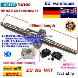 【DE Ship】SFU1204 L400mm Kugelgewindetrieb 1204 Ball Screw & nut+BK/BF 10 CNC Kit