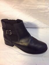 New Look Black Ankle Leather Boots Size 5