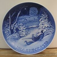 """Bing and Grondahl 7"""" Christmas Plate 1970 """"Pheasants in the Snow at Christmas"""""""