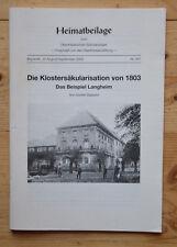 Die Klostersäkularisation von 1803 Das Beispiel Langheim von Günter Dippold