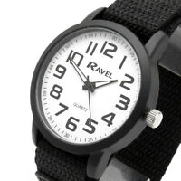 Ravel Gents Easy-Read Watch Large Numbers White Dial Sports Strap 1601.64.32