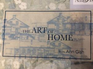 ANN GISH the ART of HOME CHERRY BLOSSOM JACQUARD 3pc KING DUVET SEA BNIP $490
