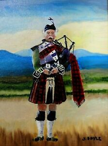 "M.JANE DOYLE SIGNED ORIGINAL ART OIL/CANVAS PAINTING ""THE SCOTSMAN""(PORTRAIT)FR."