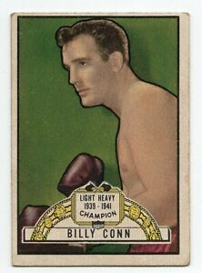 1951 RINGSIDE LIGHT HEAVY WEIGHT CHAMPION BILLY CONN CARD #12