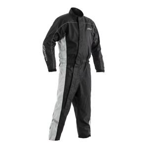 RST 0204 Hi-Vis Waterproof Motorcycle Over Suit Black Grey