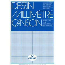 Canson MM A4 Artists Dessin GRAPH Paper Pad. 50 Sheets 90gsm For Pen or Pencil.