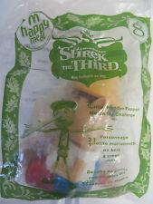 NIP~ McDonalds Happy Meal~Shrek the Third #8~WOODEN PUPPET ~2007 ~FREE SHIPPING!