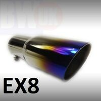 Heavy Duty Stainless Steel Exhaust trim tailpipe end tip Sports big bore 62m EX8