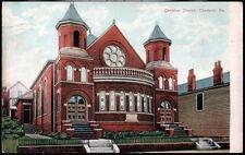 CHARLEROI PA Christian Church Antique Town View Postcard Old Vtg Pennsylvania PC