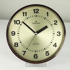 Junghans Astra Quartz Wand Uhr Messing & Bakelit Ø 27 cm Vintage 60er Jahre