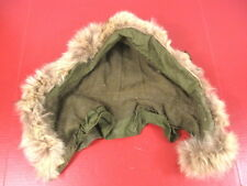 Korea War Era US Army Extreme Cold Weather M-1951 Fishtail Parka Hood w/Wolf Fur
