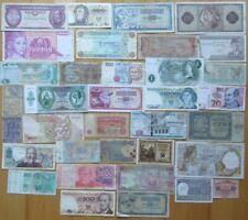 Lot Geldscheine, international und unterschiedliche Erhaltung