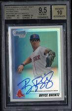 2010 Bowman Chrome Draft Prospect Autographs Ref Bryce Brentz BGS 9.5 Auto 10