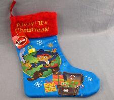 "Jake and the Neverland Pirates Christmas Stocking NEW 20"" Ahoy Walt Disney"