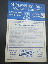 Shrewsbury V Darlington 1958/9