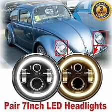 """7"""" inch CREE  LED Headlights Upgrade Hi/Low Beam round Kit for VW Beetle Classic"""
