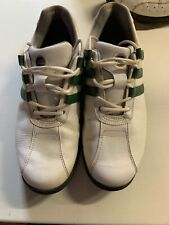adidas mens golf shoes size 10 White With Green Stripes