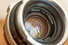 Contarex Planar 50mm f/2 Black yellow matic version [Zeiss, Leica]