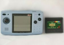 SNK Neo Geo Pocket Color NGPC Blue Console Bundle w/ 3 Games KOF R2 and more!