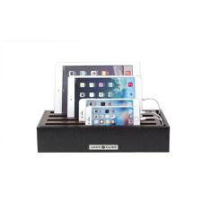 4 Port USB Adapter Desktop Multi Device Charging Station Organizer Docking Stand