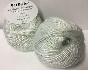 10 pelotes de laine/ laine et lurex / très douce/ fabriqué en FRANCE