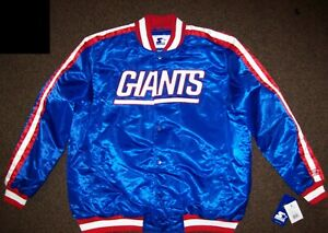NEW YORK GIANTS Starter Snap Down Jacket BLUE  M L XL 2X
