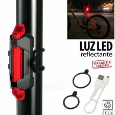 Luz 5 led trasera bicicleta bateria recargable usb flash impermeable