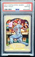 2012 Topps 1st Year Gypsy Queen Angels MIKE TROUT Card PSA 10 GEM MINT - Pop 61