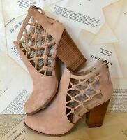 Joe's Jeans tan Suede Knotted Cutout Back Zip Ankle Boot 8.5