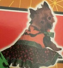 Pet Halloween Costume Dog Pumpkin Jack O'Lantern Dress Outfit Size XS, S, M Cute