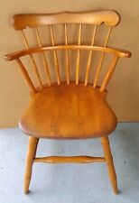 Antique Vtg Maple Desk Dining Dinette Chair Side Chair by S Bent Brothers Bros