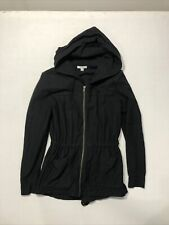 Womens Standard James Perse Brigade Lightweight Twill Hooded Parka Black Size 1