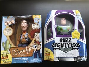 New Toy Story Buzz Lightyear + Woody Signature Collection Unopened US