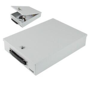 HMF Dokumentenbox Dokumentenkassette Din A4 Geldkassette Tischtresor Laptop Safe