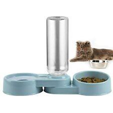 New listing Folomie Double Dog Cat Bowls Pet Automatic Water Dispenser Detachable Plastic