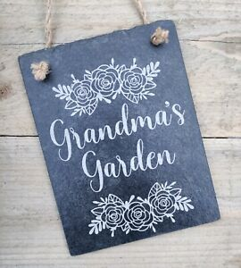 Personalised Slate Garden Sign Engraved Natural Wall Plaque for Present or Gift