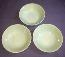 """Woods Ware Beryl Green 6 1/2"""" Soup/Cereal Bowls x 3. VG Condition"""