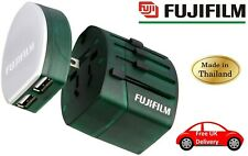 Fuji World Trip Dual USB Charger and Travel Adapter - Green (UK STOCK)