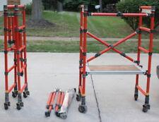 Genie/Genex Fiberglass Scaffolding - 2 Sections Wheels,Outriggers,Walkboard