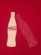 "dac0d7883 COCA-COLA ""SHARE A COKE"" LARGE RED GRAPHIC T-SHIRT FAST FREE"