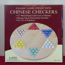 Chinese Checkers Game Wood Board Boxed Set Classic Game Collection