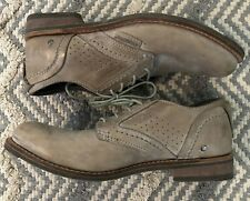 CAT Caterpillar P714992 Beige Leather Lace-up Work Men's Shoes 9.5