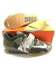 Nike Romaleos 3 Mens Size 12 Weightlifting Shoes Olive Green Camo 852933-300 NEW