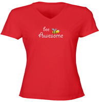 Be Awesome Juniors Girl Women Tee T-Shirt Gift Print Shirts Honey Bee Awesome