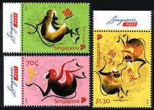 Singapore 1762-1764, MNH. New Year. Year of the Monkey, 2016