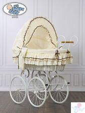 My Sweet Baby Luxury Retro Stubenwagen Nostalgiestubenwagen Beige Braun XXXL TÜV