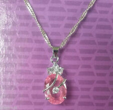 Cubic Zirconia Oval Crystal Costume Necklaces & Pendants